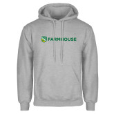 Grey Fleece Hoodie-Farmhouse Shield