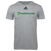 Adidas Sport Grey Logo T Shirt-Farmhouse Shield
