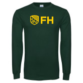 Dark Green Long Sleeve T Shirt-FH Shield