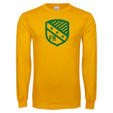 Gold Long Sleeve T Shirt-Shield
