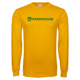 Gold Long Sleeve T Shirt-Farmhouse Shield