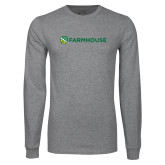 Grey Long Sleeve T Shirt-Farmhouse Shield
