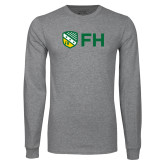 Grey Long Sleeve T Shirt-FH Shield