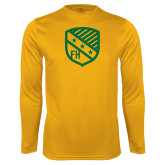 Performance Gold Longsleeve Shirt-Shield