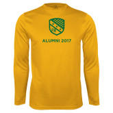 Performance Gold Longsleeve Shirt-Alumni Design