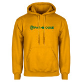 Gold Fleece Hoodie-Farmhouse Shield
