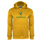 Under Armour Gold Performance Sweats Team Hoodie-Stacked Crest