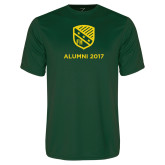 Performance Dark Green Tee-Alumni Design