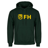 Dark Green Fleece Hood-FH Shield