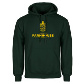Dark Green Fleece Hood-Stacked Crest