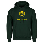 Dark Green Fleece Hood-Alumni Design