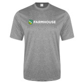 Performance Grey Heather Contender Tee-Farmhouse Shield