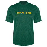 Performance Dark Green Heather Contender Tee-Farmhouse Shield