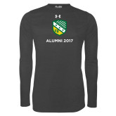 Under Armour Carbon Heather Long Sleeve Tech Tee-Alumni Design