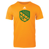 Adidas Gold Logo T Shirt-Shield
