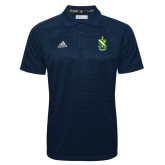 Adidas Climalite Navy Jacquard Select Polo-Crest
