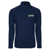 Sport Wick Stretch Navy 1/2 Zip Pullover-FH Shield
