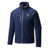 Columbia Full Zip Navy Fleece Jacket-Crest