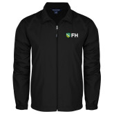 Full Zip Black Wind Jacket-FH Shield