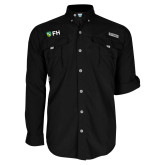 Columbia Bahama II Black Long Sleeve Shirt-FH Shield
