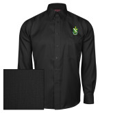 Red House Black Herringbone Long Sleeve Shirt-Crest