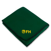 Dark Green Arctic Fleece Blanket-FH Shield
