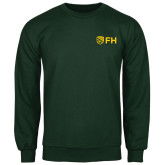 Dark Green Fleece Crew-FH Shield