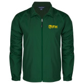 Full Zip Dark Green Wind Jacket-FH Shield