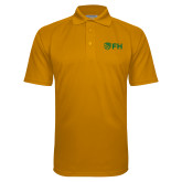 Gold Textured Saddle Shoulder Polo-FH Shield