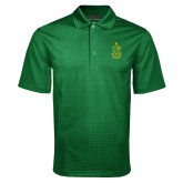 Dark Green Mini Stripe Polo-Crest