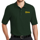 Dark Green Easycare Pique Polo-FH Shield
