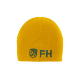 Gold Knit Beanie-FH Shield