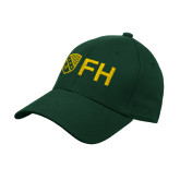 Dark Green Heavyweight Twill Pro Style Hat-FH Shield