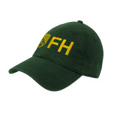 Dark Green Twill Unstructured Low Profile Hat-FH Shield