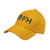 Gold Heavyweight Twill Pro Style Hat-FH Shield