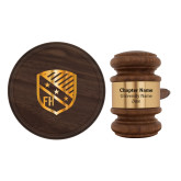 Personalized Gavel & Sound Block Set-Shield  Engraved