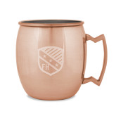 Copper Mug 16oz-Shield  Engraved