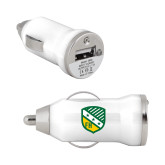 On the Go White Car Charger-Shield