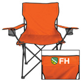 Deluxe Orange Captains Chair-FH Shield