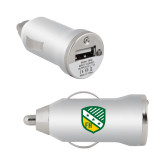 On the Go Silver Car Charger-Shield