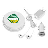 3 in 1 White Audio Travel Kit-Shield
