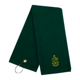 Dark Green Golf Towel-Crest