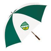 62 Inch Forest Green/White Umbrella-Shield