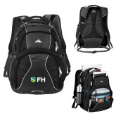 High Sierra Swerve Black Compu Backpack-FH Shield