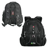 Wenger Swiss Army Mega Black Compu Backpack-FH Shield