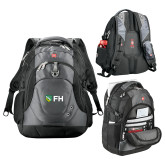 Wenger Swiss Army Tech Charcoal Compu Backpack-FH Shield