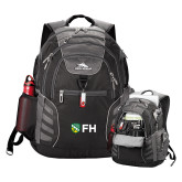 High Sierra Big Wig Black Compu Backpack-FH Shield