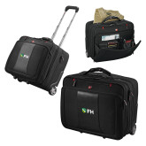 Wenger Transit Wheeled Black Compu Briefcase-FH Shield