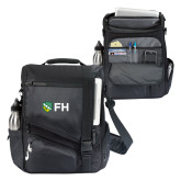 Momentum Black Computer Messenger Bag-FH Shield