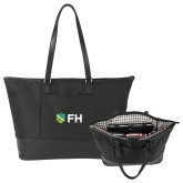 Stella Black Computer Tote-FH Shield